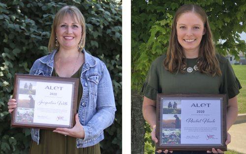 Jacqueline Witte (left) and Rachel Hawk completed the 2020 Illinois Farm Bureau Ag Leaders of Tomorrow (ALOT) program.